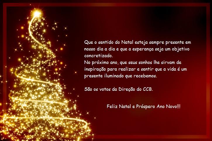 Cartão de natal ccb